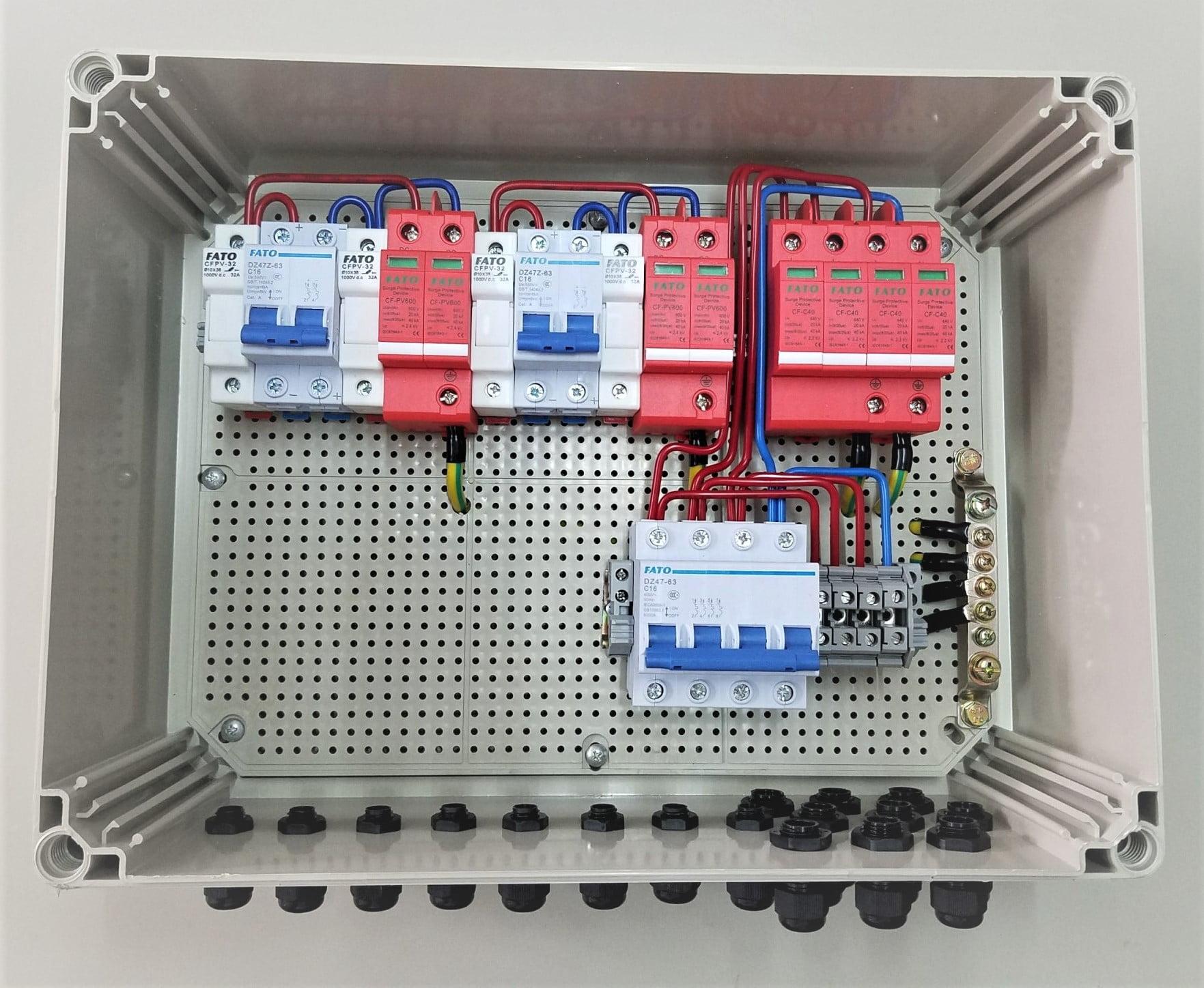 tủ điện đấu sẵn ac dc cho điện năng lượng mặt trời