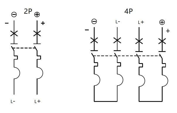 sơ đồ đấu nối mcb dc chint nb1