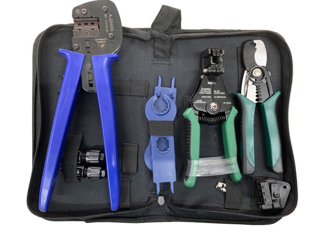 bộ dụng cụ thi công điện - kềm bấm đầu cos - kềm tuốt dây - kềm cắt dây, dụng cụ mở khóa mc4