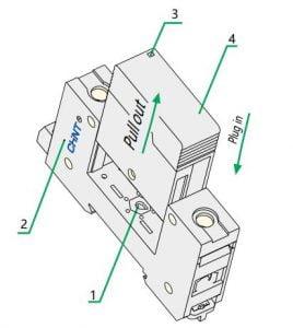 cấu tạo chống sét lan truyền ac chint nu6-ii