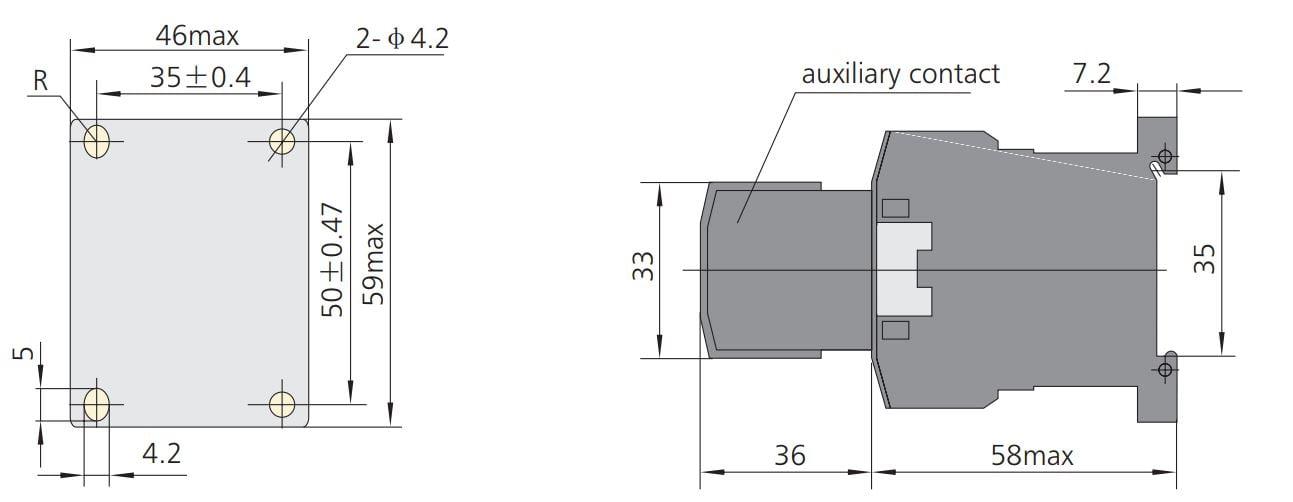 kích thước contactor chint nc6