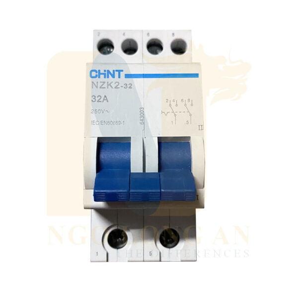 cầu dao chuyển nguồn nzk2-32 chint