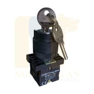 công tắc xoay có chìa khóa chint np2-eg